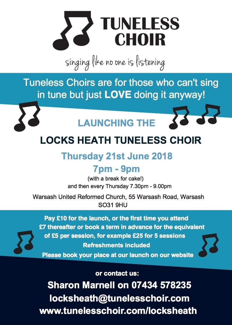 Locks Heath Launch A5 Leaflet